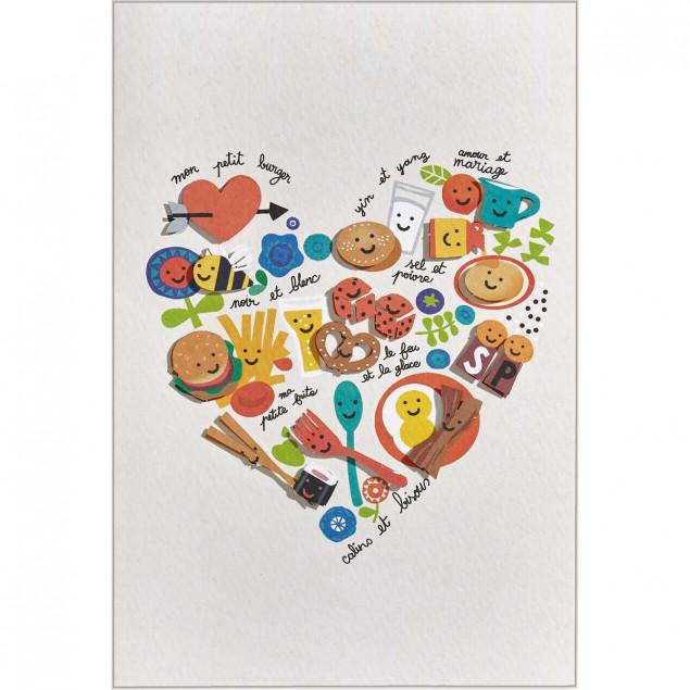 Recipe for love romantic card