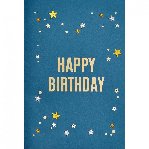 Starry diamante sky birthday card