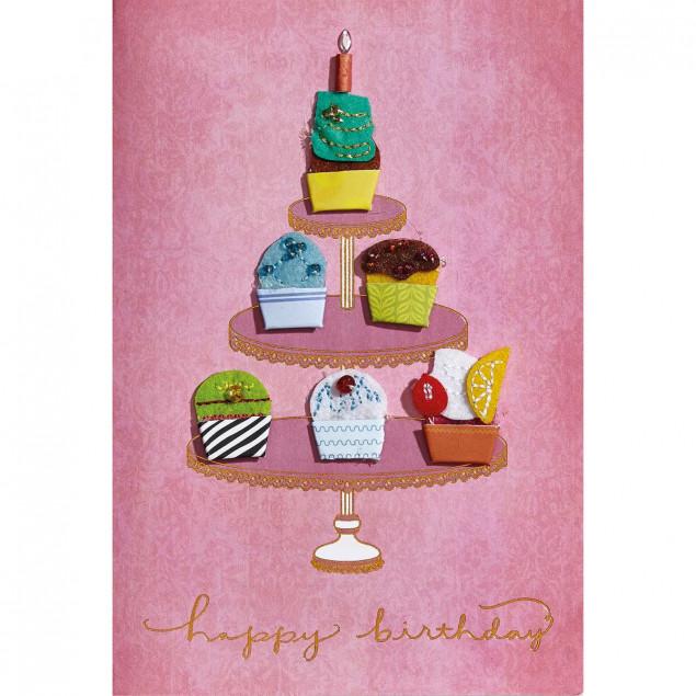 Cake stand birthday card