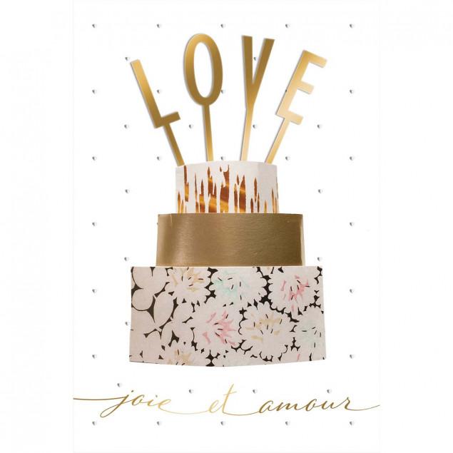 LOVE cake romantic card