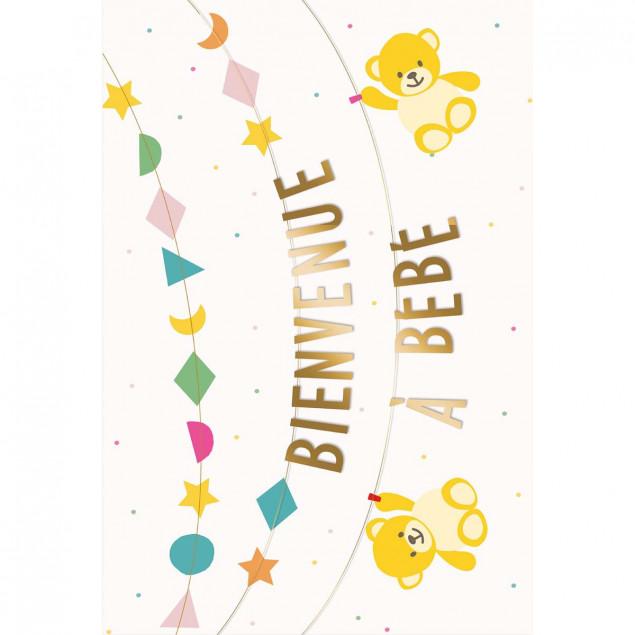 Bienvenue à bébé garland new baby card