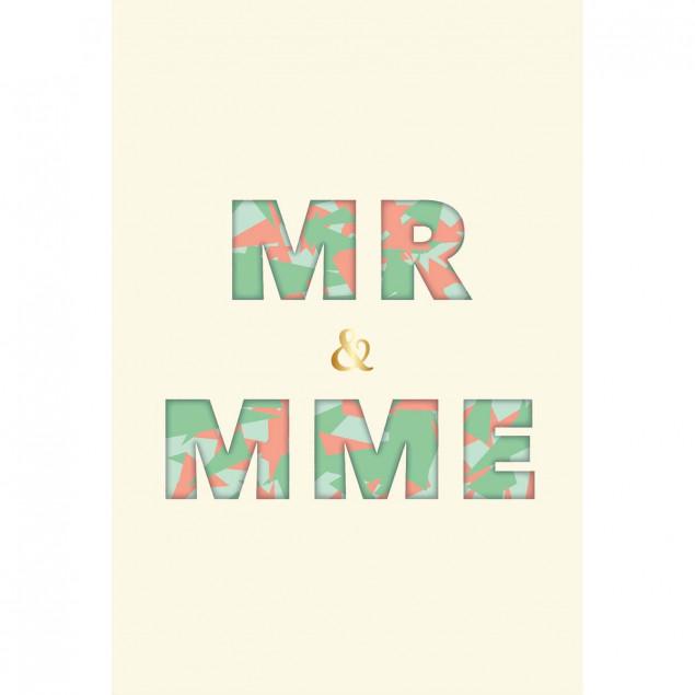 MR ET MME wedding card