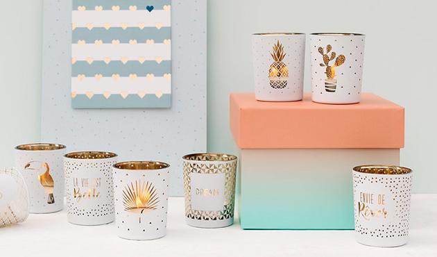 <p>Tea light holders</p>